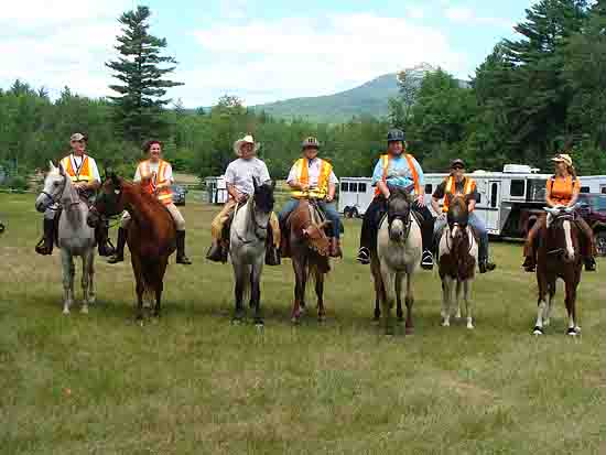 Horse riding at Chocorua