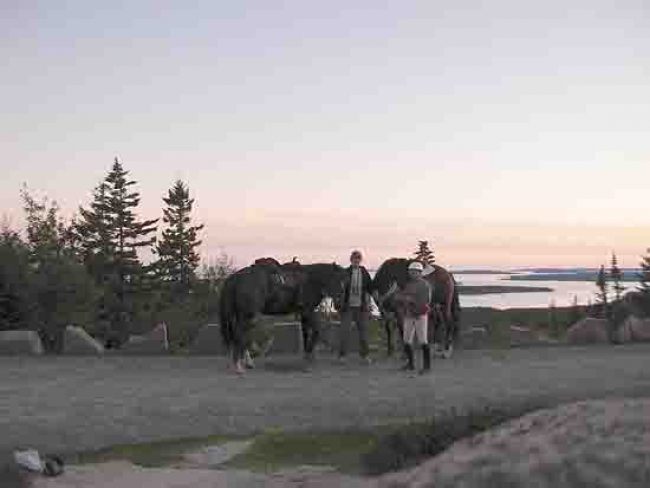Horseback riders Day Mtn Acadia Maine